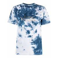 Paco Rabanne t-shirt con fantasia tie dye - blu