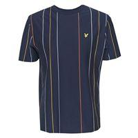 Lyle & scott t shirt vertical stripe ts1505v navy