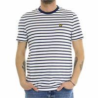Lyle & scott t shirt righe ts508v z62 navy white
