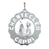 Chantecler / logo / ciondolo grande faraglioni / argento