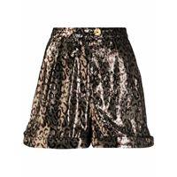 Halpern shorts con stampa - marrone