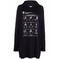 MM6 Maison Margiela abito modello maglione communication con stampa - nero