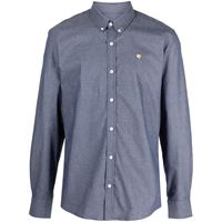 Maison Kitsuné camicia con ricamo - blu