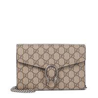 Gucci clutch portafoglio dionysus in tessuto gg supreme