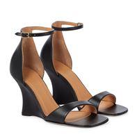 LOEWE sandali in pelle con zeppa