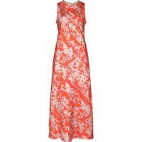 Asceno abito midi valencia - rosso