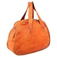 A.S.98 borsa fashion da donna fatta a mano in pelle di vitello arancione chiusura con cerniera 08 arancione
