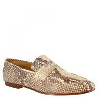 Leonardo Shoes mocassini eleganti slip-on da uomo fatti a mano in pelle di pitone grigia gimignano pitone roccia