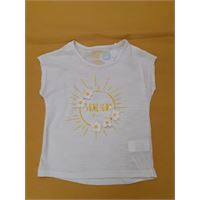Short sleeve t-shirt with print white tg 7