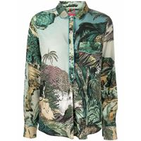 F.R.S For Restless Sleepers camicia con stampa - verde