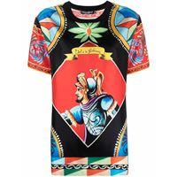 Dolce & Gabbana t-shirt carretto con stampa - rosso