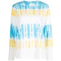 RE/DONE t-shirt con fantasia tie dye - blu