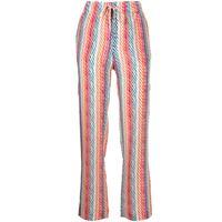 Saloni pantaloni de chine silk crepe - multicolore