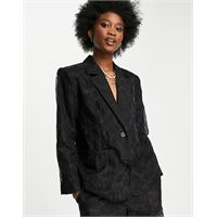 Selected femme - blazer comodo nero in coordinato