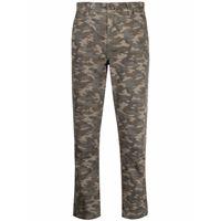 Current/Elliott pantaloni con stampa camouflage crop - marrone