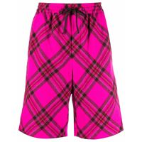 PHILOSOPHY DI LORENZO SERAFINI shorts a quadri in rosa - donna