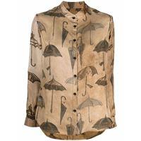 Uma Wang camicia con stampa - toni neutri