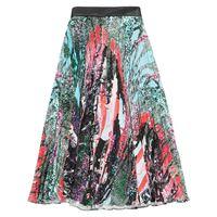 Christopher Kane mindscape long pleated skirt - rosa