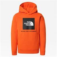 TheNorthFace the north face felpa girocollo con cappuccio bambini new box red orange taglia l donna