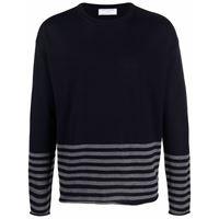 Société Anonyme maglione a girocollo a righe - blu