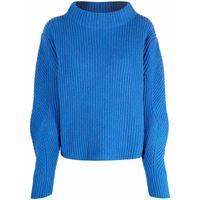 Société Anonyme maglione con scollo a imbuto - blu