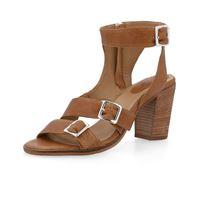 Manas sandalo in pelle con cinturini e tacco 7,5cm
