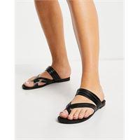 Vagabond - tia - sandali bassi neri con fascette in pelle-nero