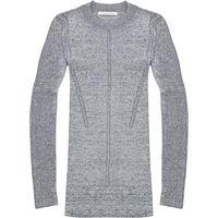 Christopher Kane metallic knitted top - argento