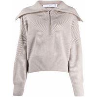 IRO maglione con scollo ampio - grigio