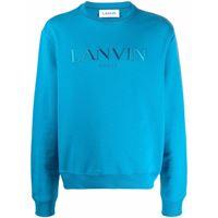 LANVIN maglione con logo - blu