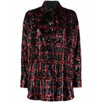 Pinko giacca-camicia con paillettes - nero