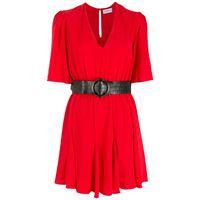 Olympiah abito con cintura bicorne - rosso