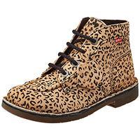 Kickers kick colz, scarpe con lacci donna, beige leopard, 35 eu