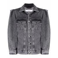 IRO giacca denim con spalline - grigio