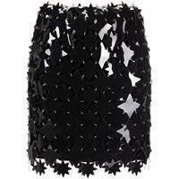 Paco Rabanne minigonna con decorazione jupe - nero