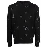 Billionaire maglione con logo - nero