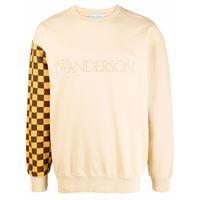 JW Anderson colourblock logo sweatshirt - toni neutri