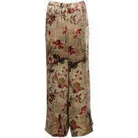 Pierre-Louis Mascia pantaloni crop kanpur a fiori - toni neutri