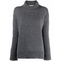 Plan C maglione con dettaglio a coste - grigio