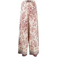 Pierre-Louis Mascia pantaloni con stampa patchwork - toni neutri