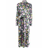 Plan C floral-print midi dress - nero