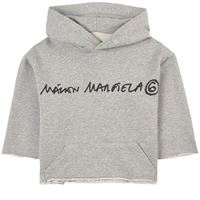 MM6 Margiela bambino - branded felpa con cappuccio grigia - bambina - 12 anni - grigio
