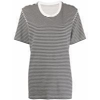 MM6 Maison Margiela t-shirt a righe - bianco
